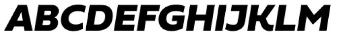 Fieldwork Italic Black Font UPPERCASE