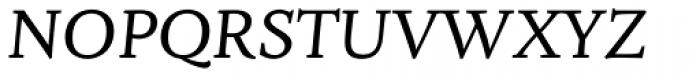 Fiesole Caption Italic Font UPPERCASE