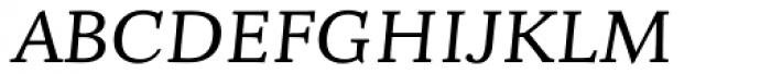 Fiesole Display Italic Font UPPERCASE