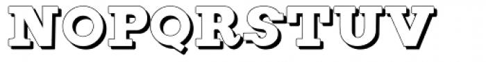 Figgins Brute Shadow Font UPPERCASE