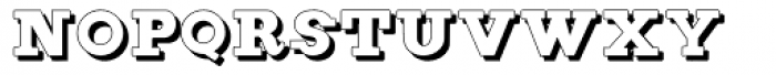 Figgins Brute Shadow Font LOWERCASE