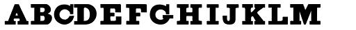 Figgins Brute Font LOWERCASE