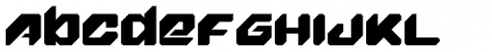 Fighter Pilot Font LOWERCASE