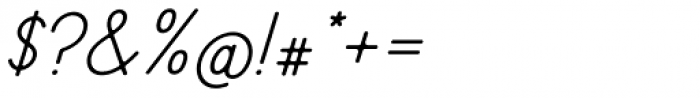 Fika Regular Italic Font OTHER CHARS