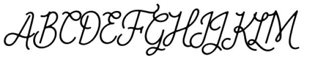 Fika Regular Italic Font UPPERCASE