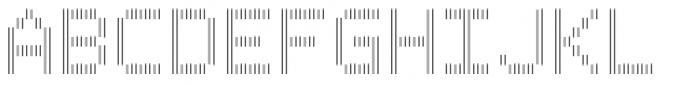 Filament Regular Double Font UPPERCASE