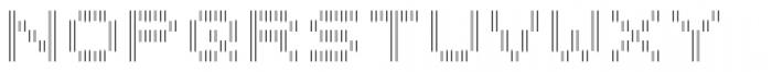 Filament Regular Double Font LOWERCASE