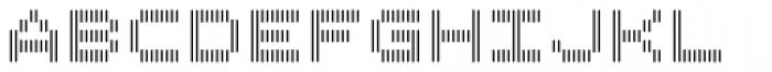 Filament SemiBold Double Font LOWERCASE