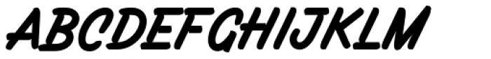 Filbert Brush Caps Font UPPERCASE
