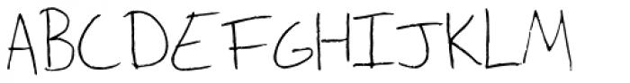 Fill Meijer Font UPPERCASE