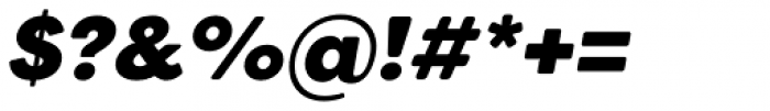 Filson Soft Heavy Italic Font OTHER CHARS