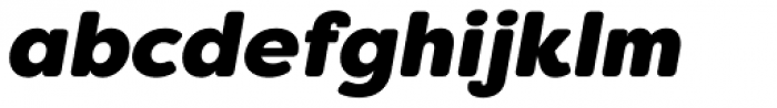 Filson Soft Heavy Italic Font LOWERCASE