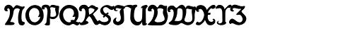 Fin Fraktur Versalete Font LOWERCASE