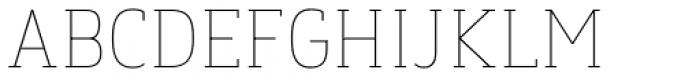 Finador Slab Thin Font UPPERCASE