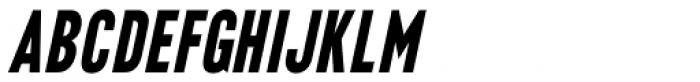 Final Edition Oblique JNL Font UPPERCASE