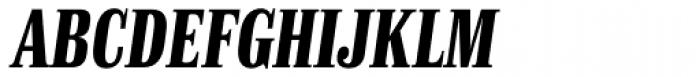 Finalia DT Condensed Bold Italic Font UPPERCASE