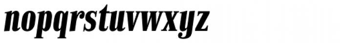 Finalia DT Condensed Bold Italic Font LOWERCASE