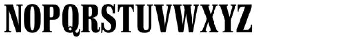 Finalia DT Condensed Bold Font UPPERCASE