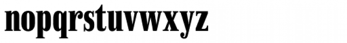 Finalia DT Condensed Bold Font LOWERCASE