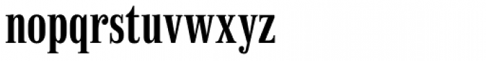 Finalia DT Condensed Demi Font LOWERCASE