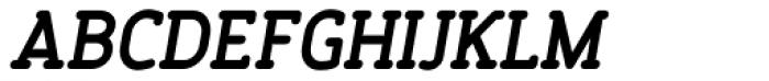 Finalist Round Slab Bold Italic Font UPPERCASE