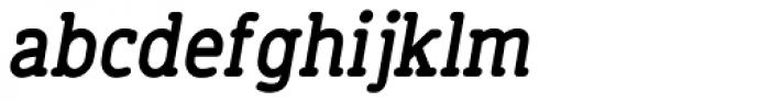 Finalist Round Slab Bold Italic Font LOWERCASE