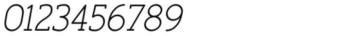 Finalist Round Slab Light Italic Font OTHER CHARS