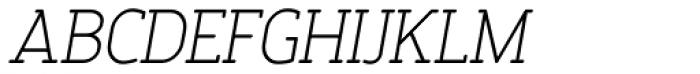 Finalist Round Slab Light Italic Font UPPERCASE