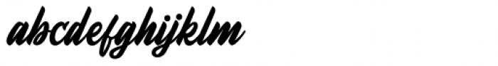 Fineberg Regular Font LOWERCASE