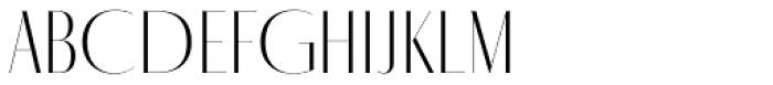 Fino Sans Title Thin Font UPPERCASE