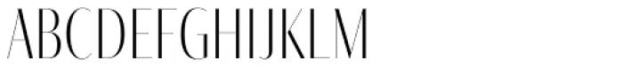 Fino Sans Title Thin Font LOWERCASE
