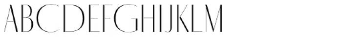 Fino Sans Title UltraThin Font UPPERCASE