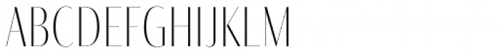 Fino Sans Title UltraThin Font LOWERCASE