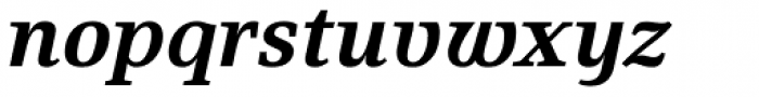 Fiona Serif Bold Italic Font LOWERCASE