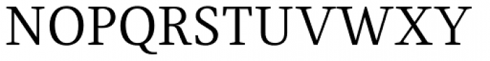 Fiona Serif Font UPPERCASE