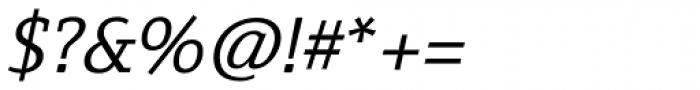 Fiona Slab Italic Font OTHER CHARS