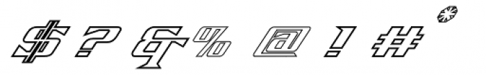 Firebird Outline Font OTHER CHARS
