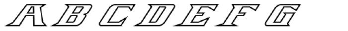 Firebird Outline Font UPPERCASE