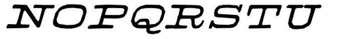 Firenza Bold Italic Font UPPERCASE