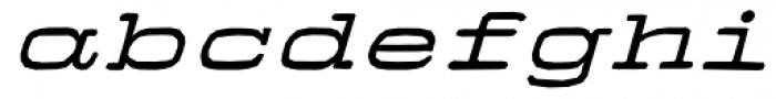 Firenza Bold Italic Font LOWERCASE