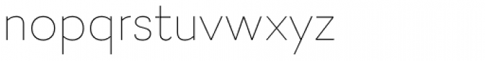 Firme Thin Font LOWERCASE