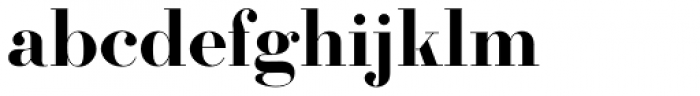 Firmin Didot URW Bold Font LOWERCASE