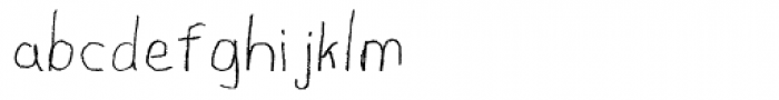 First Grade Font LOWERCASE