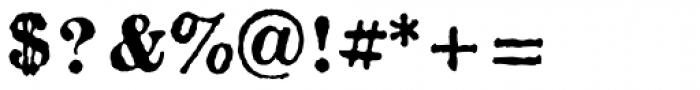 Fishwrapper Bold Font OTHER CHARS