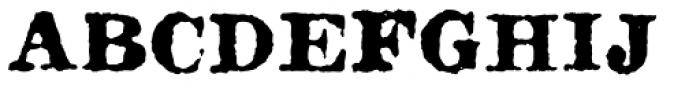 Fishwrapper Bold Font UPPERCASE