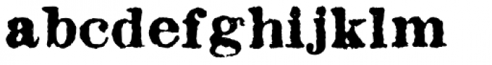 Fishwrapper Bold Font LOWERCASE