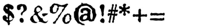 Fishwrapper Font OTHER CHARS