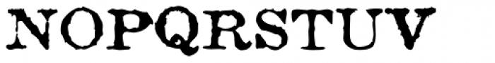 Fishwrapper Font UPPERCASE