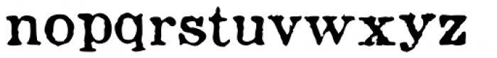 Fishwrapper Font LOWERCASE