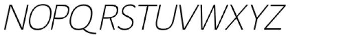 Fitz Sans Oblique SRF Font UPPERCASE